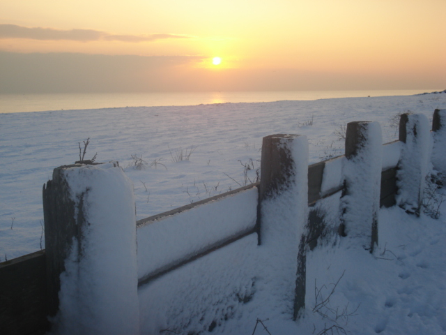 Beach in Snow